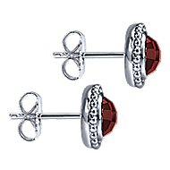 925 Silver Bujukan Stud Earrings angle 3