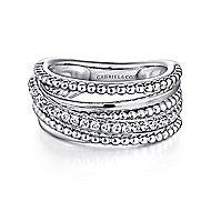 925 Silver Bujukan Wide Band Ladies' Ring angle 1