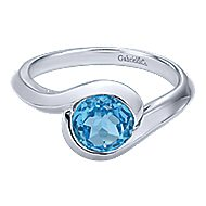 925 Silver Contemporary Classic Ladies' Ring angle 1