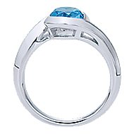925 Silver Contemporary Classic Ladies' Ring angle 2
