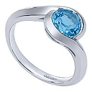 925 Silver Contemporary Classic Ladies' Ring angle 3