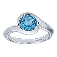 925 Silver Contemporary Classic Ladies' Ring angle 4