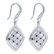 925 Silver Contemporary Drop Earrings angle 2