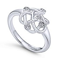 925 Silver Contemporary Fashion Ladies' Ring angle 3