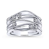925 Silver Contemporary Fashion Ladies' Ring angle 4