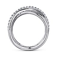 925 Silver Contemporary Twisted Ladies' Ring