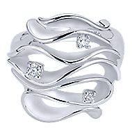 925 Silver Contemporary Wide Band Ladies' Ring
