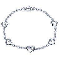 925 Silver Eternal Love Chain Bracelet angle 1