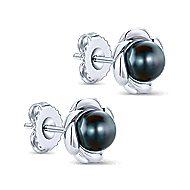 925 Silver Floral Stud Earrings