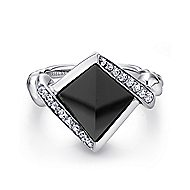 925 Silver Hampton Fashion Ladies' Ring angle 1