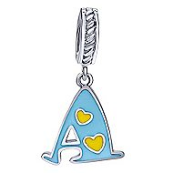 925 Silver Initial Pendant angle 1
