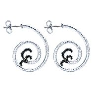 925 Silver Jubilee Drop Earrings angle 3