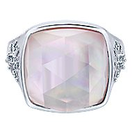 925 Silver Madison Fashion Ladies' Ring angle 1