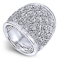 925 Silver Madison Wide Band Ladies' Ring angle 3