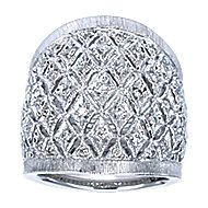 925 Silver Madison Wide Band Ladies' Ring angle 5