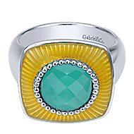 925 Silver Patina Fashion Ladies' Ring angle 1