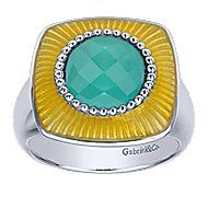 925 Silver Patina Fashion Ladies' Ring angle 4