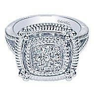 925 Silver Roman Fashion Ladies' Ring angle 1