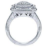 925 Silver Roman Fashion Ladies' Ring angle 2