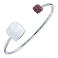 925 Silver Ruby Engravable Bangle