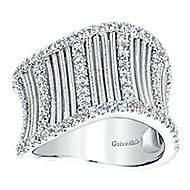 925 Silver Scalloped Fashion Ladies' Ring angle 4
