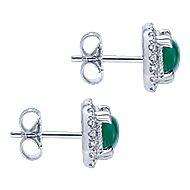 925 Silver Scalloped Stud Earrings angle 3