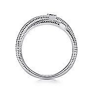 925 Silver Scalloped Wide Band Ladies' Ring