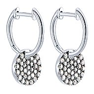 925 Silver Shadow Play Drop Earrings angle 2