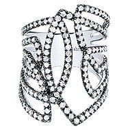 925 Silver Shadow Play Fashion Ladies' Ring angle 1