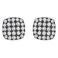 925 Silver Shadow Play Stud Earrings