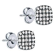 925 Silver Shadow Play Stud Earrings angle 2