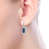 925 Silver Silk Drop Earrings angle 2