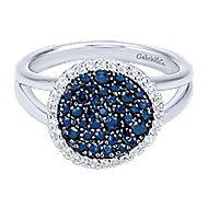 925 Silver Silk Fashion Ladies' Ring angle 1