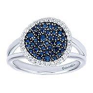 925 Silver Silk Fashion Ladies' Ring angle 4
