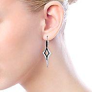 925 Silver Souviens Drop Earrings angle 3