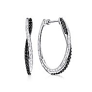 925 Silver Souviens Intricate Hoop Earrings