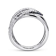 925 Silver Souviens Wide Band Ladies' Ring angle 2