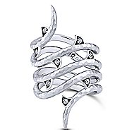 925 Silver Souviens Wide Band Ladies' Ring angle 1