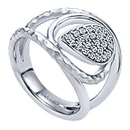 925 Silver Souviens Wide Band Ladies' Ring