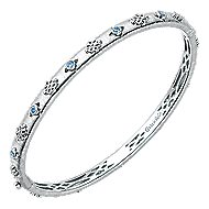 925 Silver Stackable Bangle angle 2