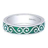925 Silver Stackable Ladies' Ring angle 5