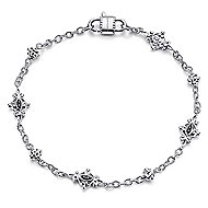 925 Silver Victorian Chain Bracelet angle 1