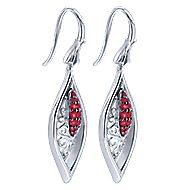 925 Silver Victorian Drop Earrings angle 2