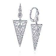 925 Silver Victorian Drop Earrings angle 1