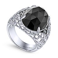 925 Silver Victorian Fashion Ladies' Ring angle 3
