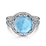 925 Silver Victorian Fashion Ladies' Ring