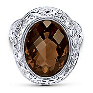 925 Silver Victorian Fashion Ladies' Ring angle 1