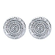 925 Silver Victorian Stud Earrings