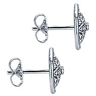 925 Silver Victorian Stud Earrings angle 3