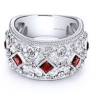 925 Silver Victorian Wide Band Ladies' Ring